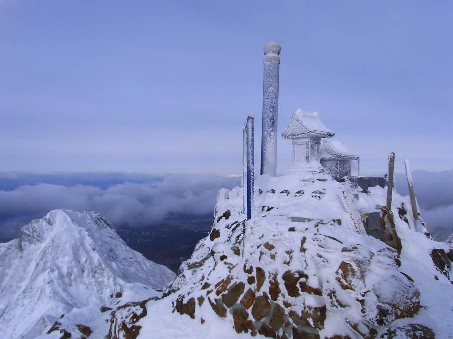 厳冬期赤岳