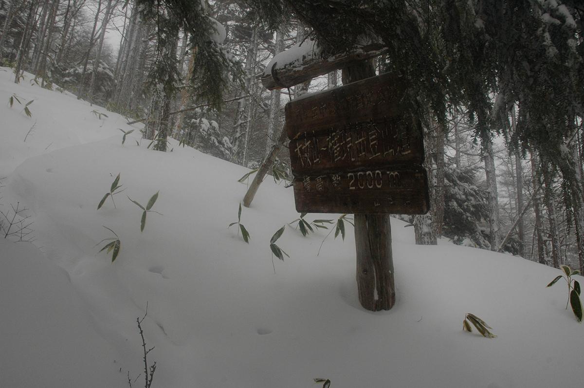 2013年厳冬期権現岳