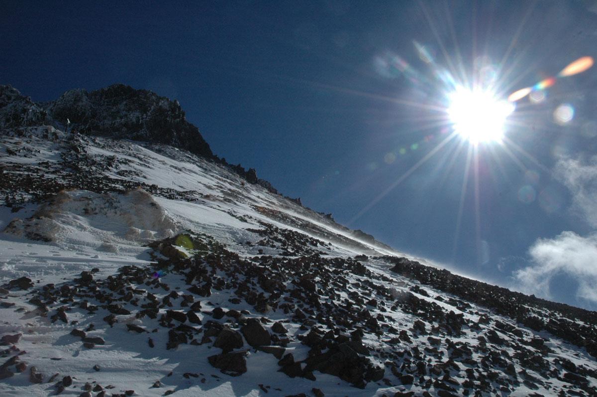 2013年厳冬期阿弥陀岳