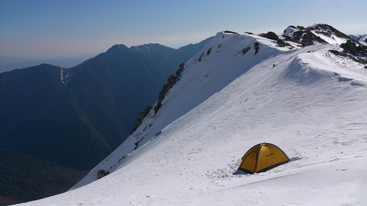 積雪期北岳