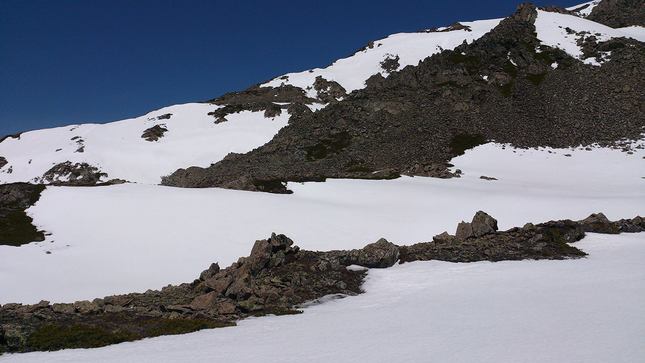 残雪期白根三山縦走